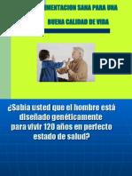 ALIMENTACION SANA PARA UNA BUENA CALIDAD DE VIDA