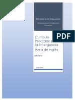 Currículo Priorizado para la Emergencia Lengua Extranjera Inglés 2020-2021 obj4