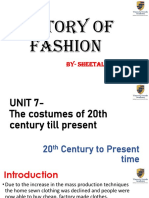 History of Fashion part 01