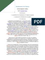 MANDAMIENTOS DE LA IGLESIA Historia