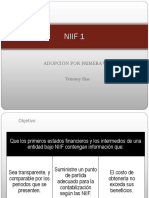 NIIF 1 ADOPCION PROMERA VEZ