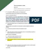PREGUNTAS DE RESISTENCIA DE AISLAMIENTO A TIERRA