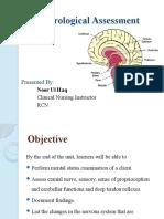 11 (a). Neurological Assessment