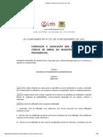 Código de Obras de Caxias do Sul - RS
