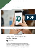 3 Ways Angel Investors Value Pre-Revenue Startups - Medium