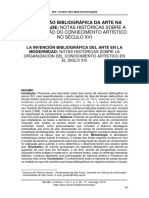 ARTIGO - A invenção bibliográfica da arte na modernidade - notas históricas sobre a organização do conhecimento artístico no século XVI