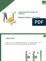 CHARLA SOBRE MANEJO MANUAL DE CARGA