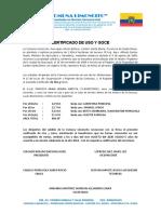 CERTIFICADO DE USO Y GOCE