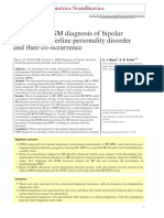 Clinical vs. DSM diagnosis of bipolar disorder, borderline personality disorder and their co-occurrence