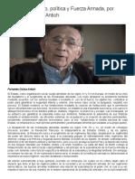 OPINIÓN _ Estado, Política y Fuerza Armada, Por Fernando Ochoa Antich _ 800Noticias