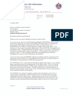 Commissioner Greg Mullins Letter To WFSF - August 2006