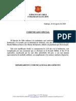 Comunic Oficial Ejército de Chile Acto de Reemplazo Parada Militar 2020 (1)