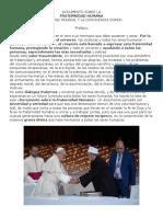 Doc FRATERNIDAD HUMANA Papa Fco Imán de Al Azhar 2019