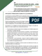 VIRTUALIDAD O PRESENCIALIDAD - DIGAMOS NO A LA ALTERNANCIA