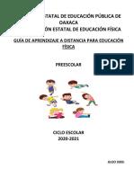 GUIA DE APRENDIZAJE EDUCACIÓN FÍSICA  PREESCOLAR