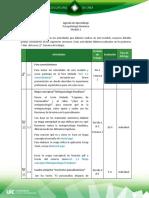 Agenda de Aprendizaje M1