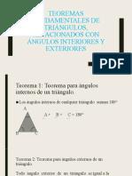 Teoremas fundamentales de triángulos, relacionados con ángulos
