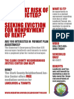 Covid 19 Eviction Flyer English Version
