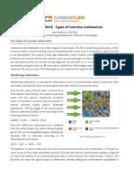 CarbonCure Technical Note - Types of Concrete Carbonation