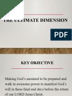 The Ultimate Dimension