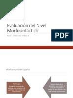 Evaluación  Nivel Morfosintáctico