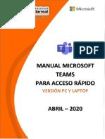 MANUAL MTEAMS - ACCESO RAPIDO - VERSION PC V3.0 - 01