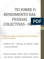 Tema V - Imposto Sobre o Rendimento das Pessoas Colectivas-1