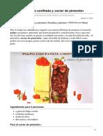 bavette.es-Pulpo con patata confitada y caviar de pimentón
