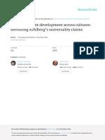 Moral judgment development across cultures
