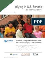 Bullying in US Schools-2014 Status Report