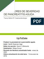 Predictores de severidad de Pancreatitis aguda