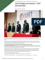 El Comando Conjunto Estratégico de Transición – CCOET conmemora su sexto aniversario