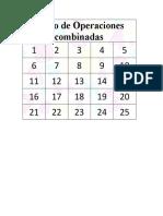 Bingo de Operaciones combinadas