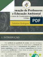 Formação de Professores e Educação Ambiental