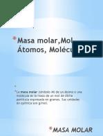 Masa molar,Mol, atomos, moléculas.pptx