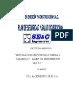 plan de seguridad y salud ocupacional. - LINEA DE TRANSMISION
