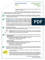 Legalización Matrícula para 2020-2