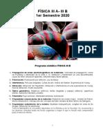 Guia Trabajos Practicos  - 1er sem 2020 - FISICA III A-III B