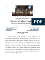 The Ethos of Cultural Production