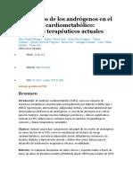 Los efectos de los andrógenos en el síndrome cardiometabólico