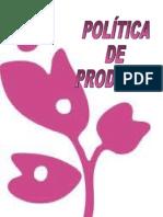 POLÍTICA DE PRODUCTOS