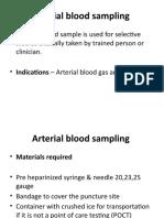 Arterial Sampling