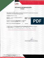 CONSTANCIA DE REPARACION 19-663 BOMBA HIDRAULICA MANUAL M00000006651.pdf