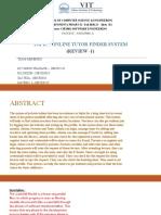 Software Engineering -online tutor finder system