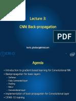 Lecture 3 CNN - backpropagation
