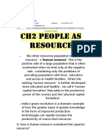 economics notes people as resource