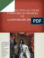 INTRODUCTION AU COURS D'HISTOIRE
