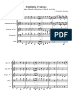 Fanfarria Nupcial boda - score and parts