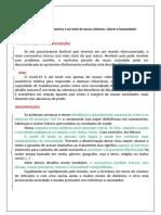 Análise textual - Estrutura do texto dissertativo - Pandemia