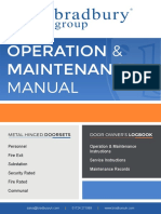 Metal Hinged Doorsets Operation Maintenance Manual